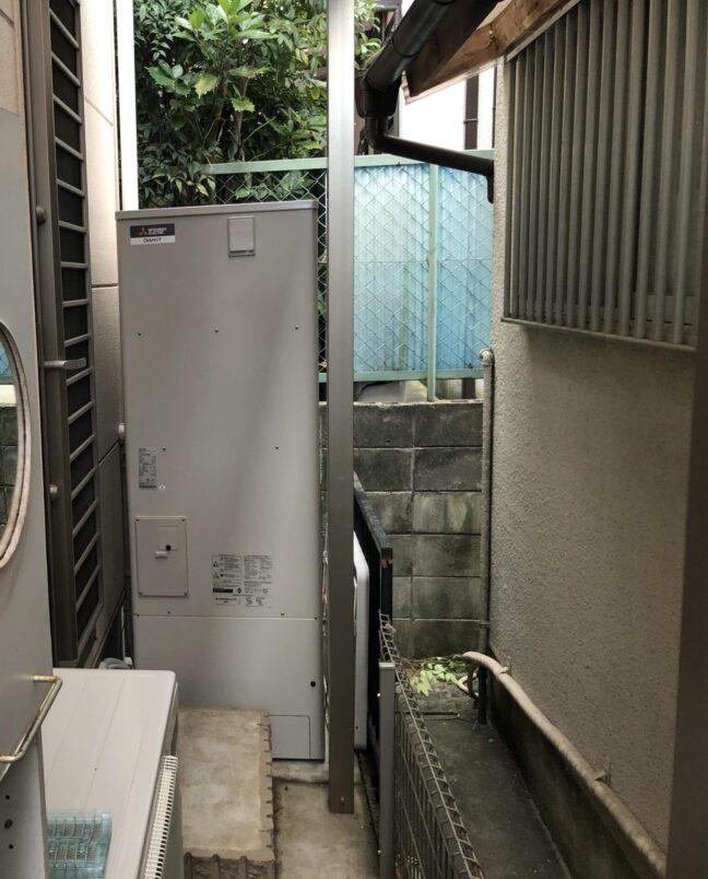 奈良県三菱エコキュートSRT-P375UB施工後の写真