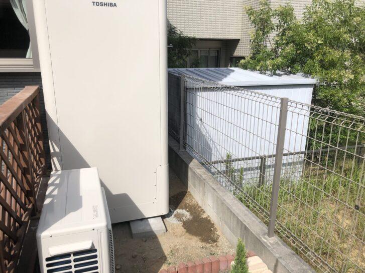 大阪府東芝エコキュートHWH-B376HW三菱IHクッキングヒーターCS-G318M施工後の写真