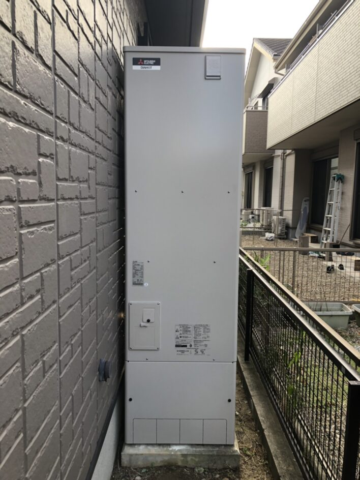 兵庫県三菱エコキュートSRT-S465UA施工後の写真