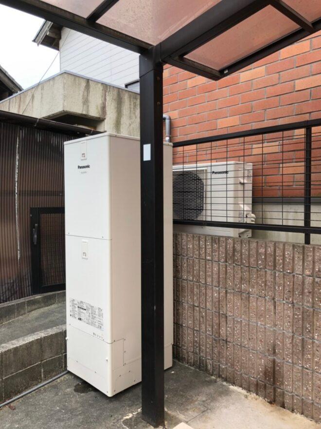 大阪府PanasonicエコキュートHE-JU37KQS施工後の写真