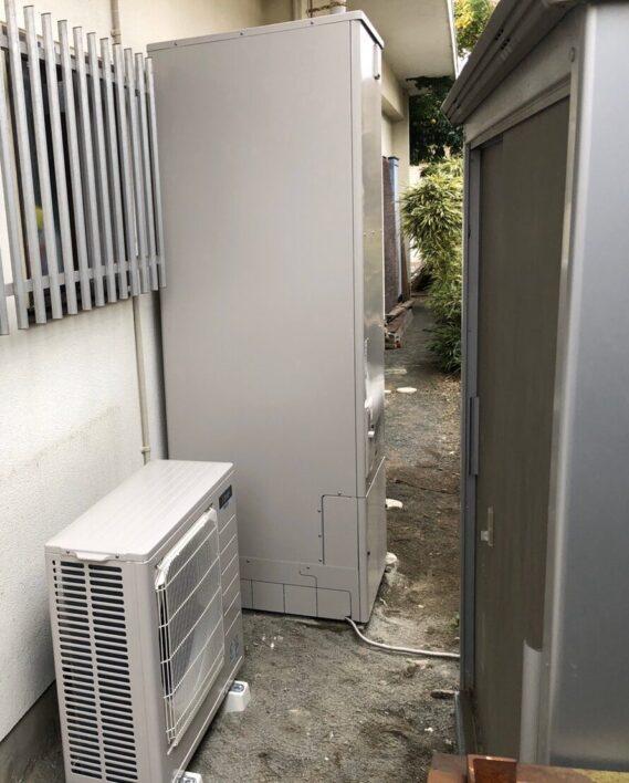 滋賀県三菱エコキュートSRT-S465UA施工後の写真