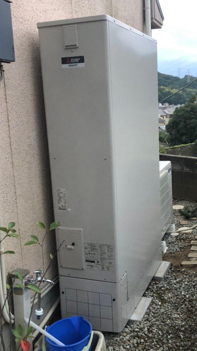 大阪府三菱エコキュートSRT-S375UZ三菱IHクッキングヒーターCS-PT316HNSR施工後の写真