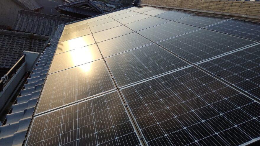 奈良県QCELLS太陽光発電システムQ.PEAK DUO-G6QCELLS太陽光発電システムQ.PEAK DUO XS-G6施工後の写真