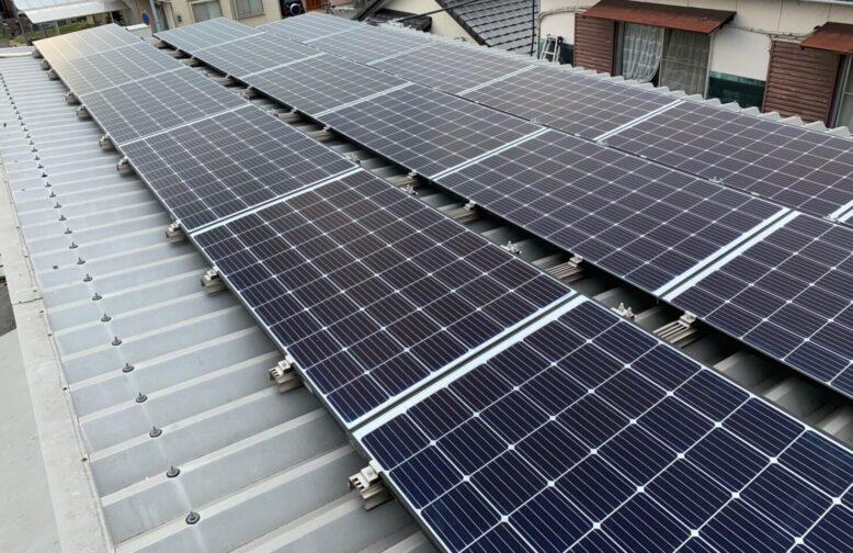 大阪府QCELLS太陽光発電システムQ.PEAK DUO-G6施工後の写真