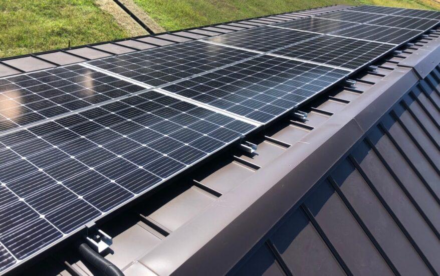 奈良県QCELLS太陽光発電システムQ.PEAK DUO-G6施工後の写真