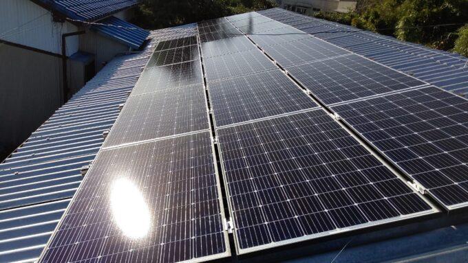 QCELLS太陽光発電システムQ.PEAK DUO-G6施工後の写真