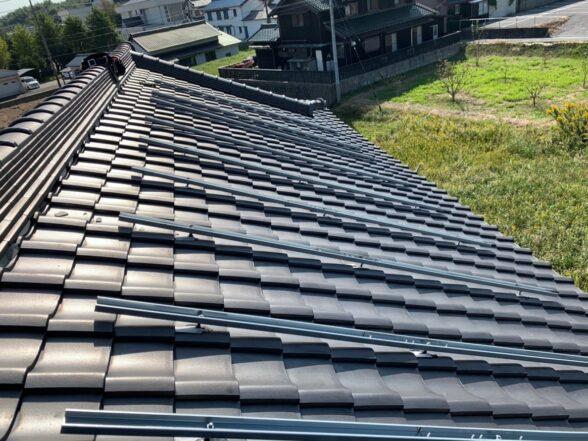 京都府QCELLS太陽光発電システムQ.PEAK DUO-G6施工前の写真