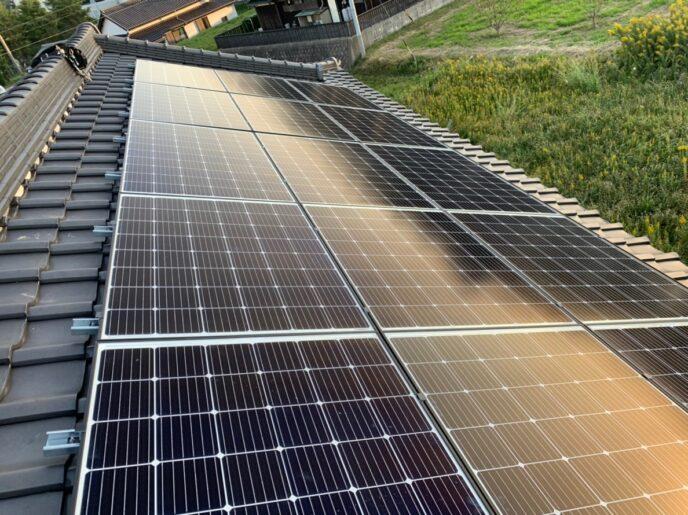 京都府QCELLS太陽光発電システムQ.PEAK DUO-G6施工後の写真