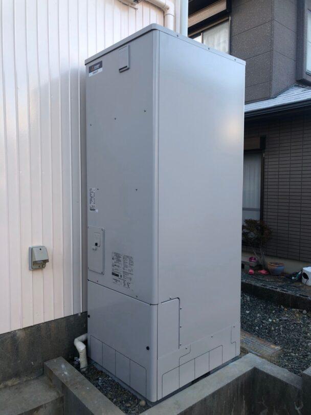 奈良県三菱エコキュートSRT-S555U施工後の写真