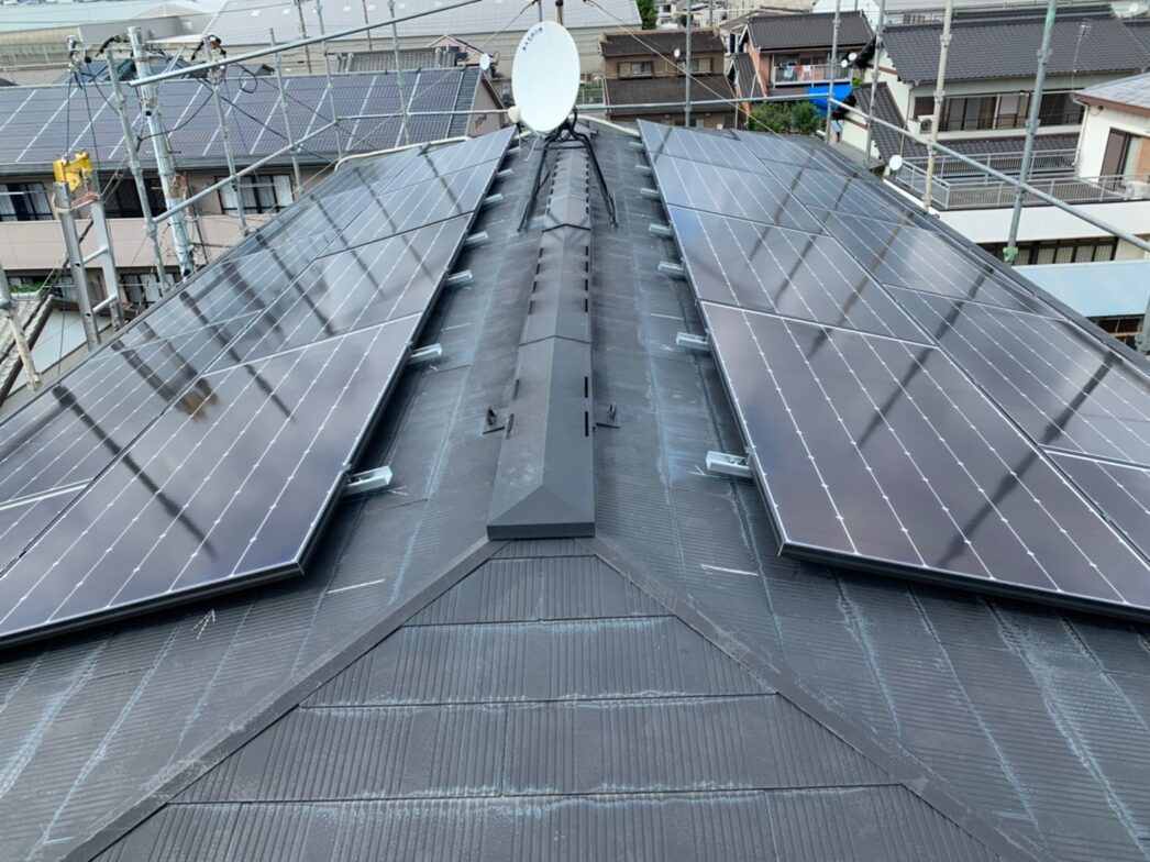 京都府Canadian Solar太陽光発電システムCS1-335MS施工後の写真