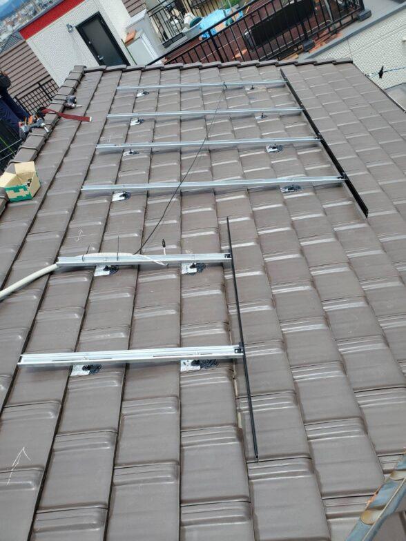 愛知県Canadian Solar太陽光発電システムMS1H-335MS施工前の写真