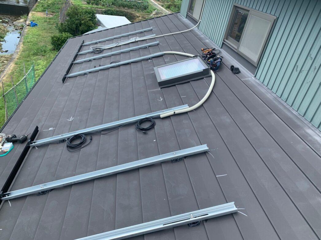 兵庫県Canadian Solar太陽光発電システムCS1VL-210MS施工前の写真
