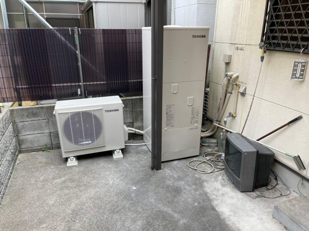 奈良県東芝エコキュートHWH-F376H施工後の写真