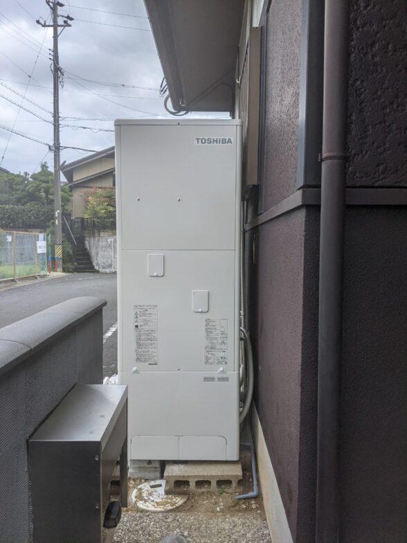 兵庫県東芝エコキュートHWH-B376HA施工後の写真