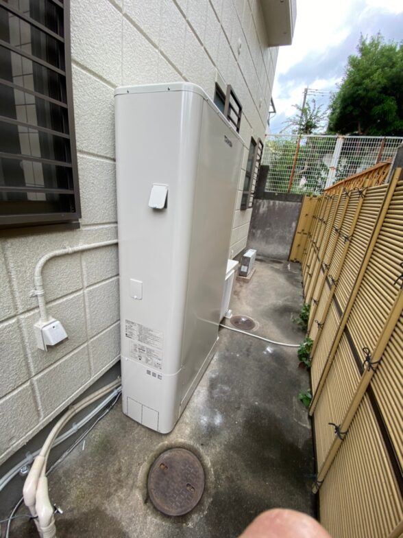 愛知県東芝エコキュートHWH-B376HW施工後の写真