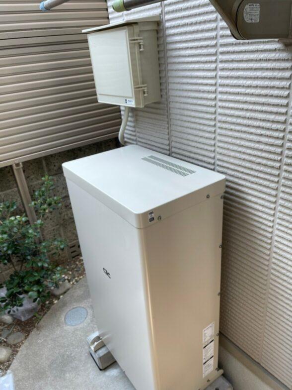 滋賀県長州産業蓄電システムCB-LKT70A施工後の写真