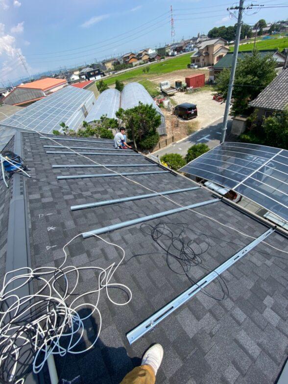 大阪府canadiansolar太陽光発電システムMOD-CSH1-335MS施工前の写真