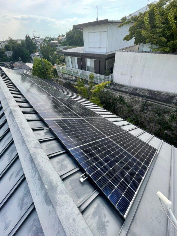 愛知県Canadian Solar太陽光発電システムCS-H1335MS施工後の写真