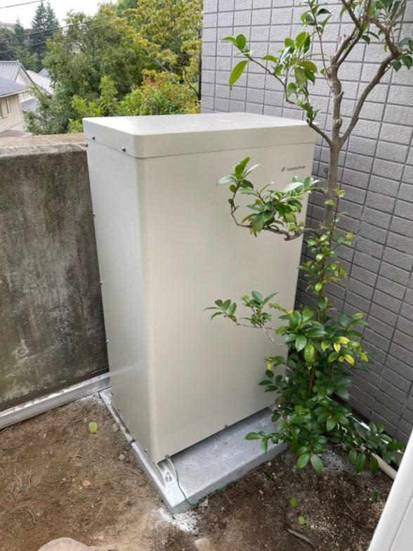 愛知県Canadian Solar蓄電システムCS-TL70GF施工後の写真