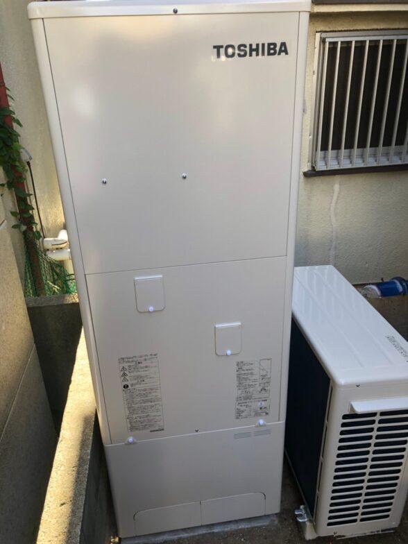 滋賀県東芝エコキュートHWH-F376H施工後の写真