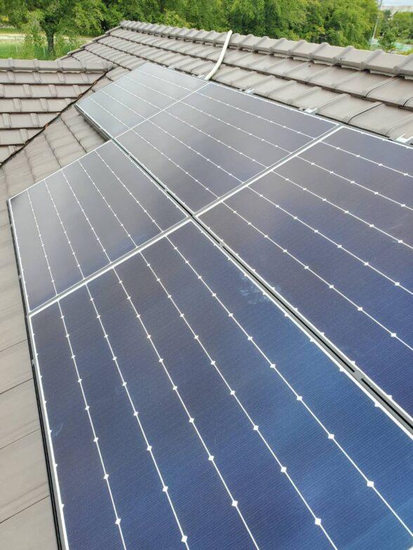 愛知県Canadian Solar太陽光発電システムMS1H-335MS施工後の写真
