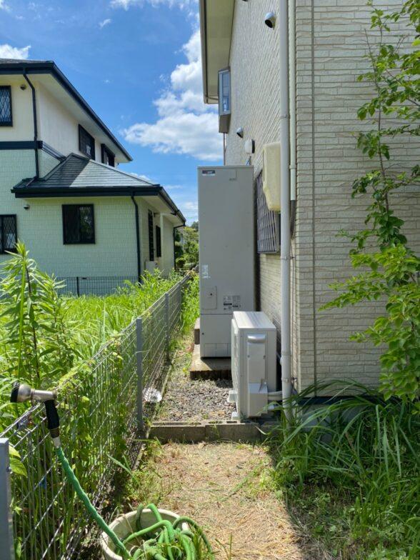愛知県三菱エコキュートSRT-C465施工後の写真
