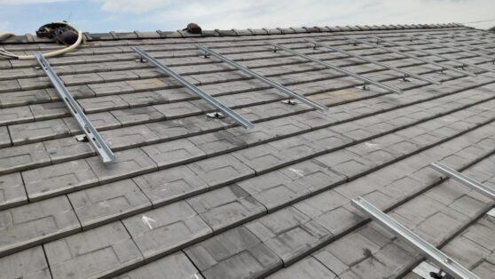滋賀県Canadian Solar太陽光発電システムCS-H1335MS施工前の写真