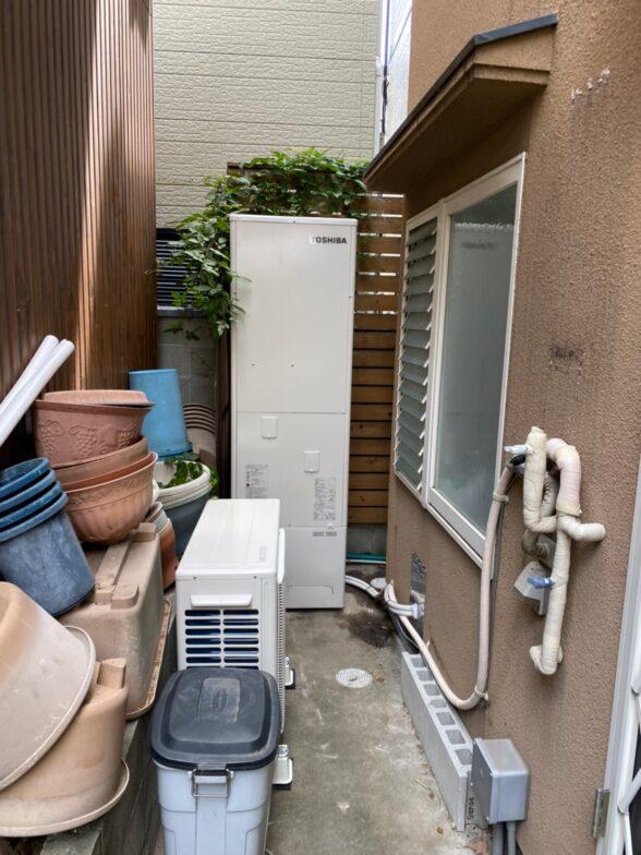 愛知県東芝エコキュートHWH-B466H施工後の写真