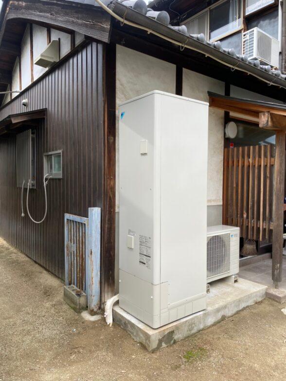 大阪府ダイキンエコキュートEQN46VFV施工後の写真
