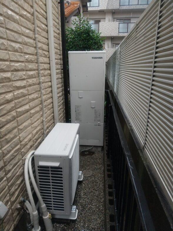 京都府東芝エコキュートHWH-B376HA施工後の写真