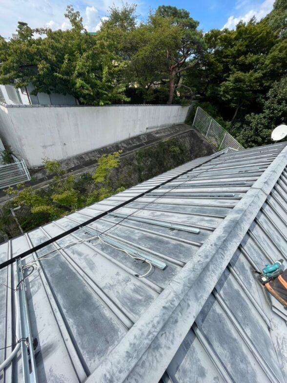 愛知県Canadian Solar太陽光発電システムCS-H1335MS施工前の写真