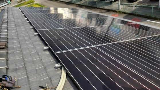 滋賀県Canadian Solar太陽光発電システムCS-H1335MS施工後の写真