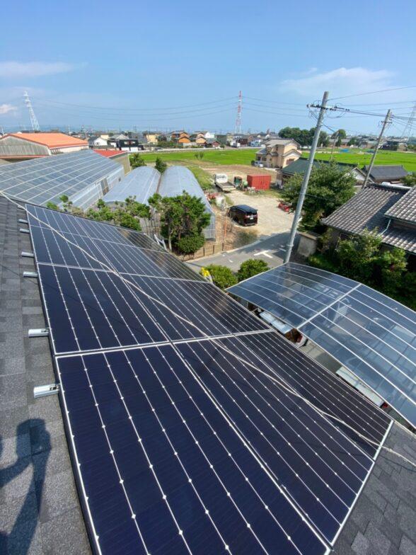 大阪府canadiansolar太陽光発電システムMOD-CSH1-335MS施工後の写真