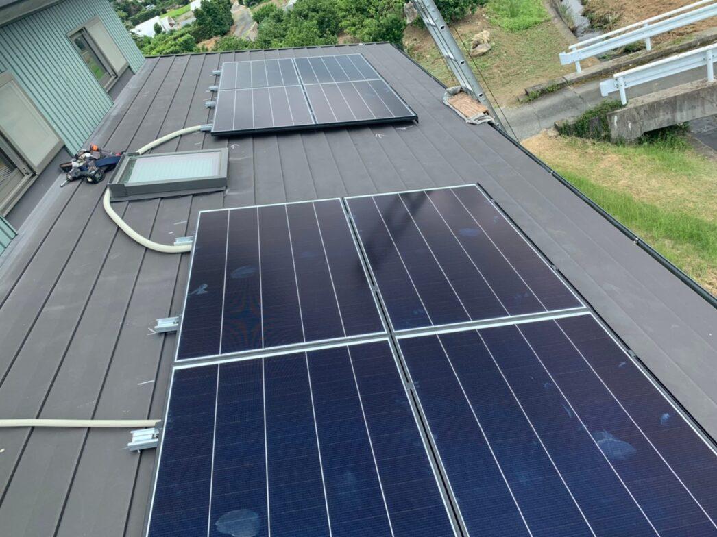 兵庫県Canadian Solar太陽光発電システムCS1VL-210MS施工後の写真