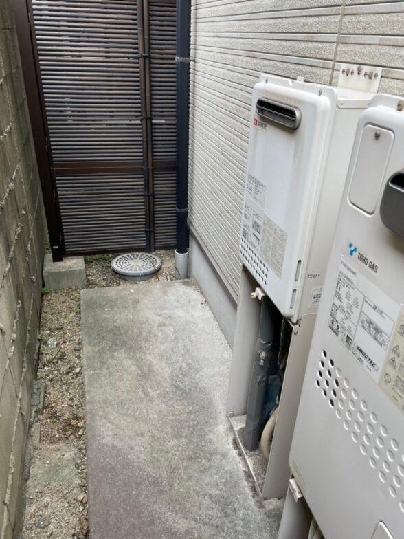 大阪府三菱エコキュートSRT-S435UZ施工前の写真
