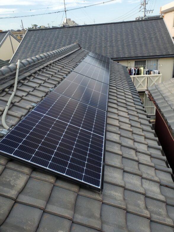 奈良県Canadian Solar太陽光発電システムCS3L-375MS施工後の写真