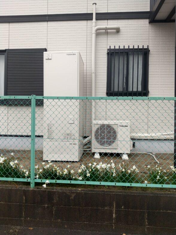 奈良県東芝エコキュートHWH-B566HA施工後の写真