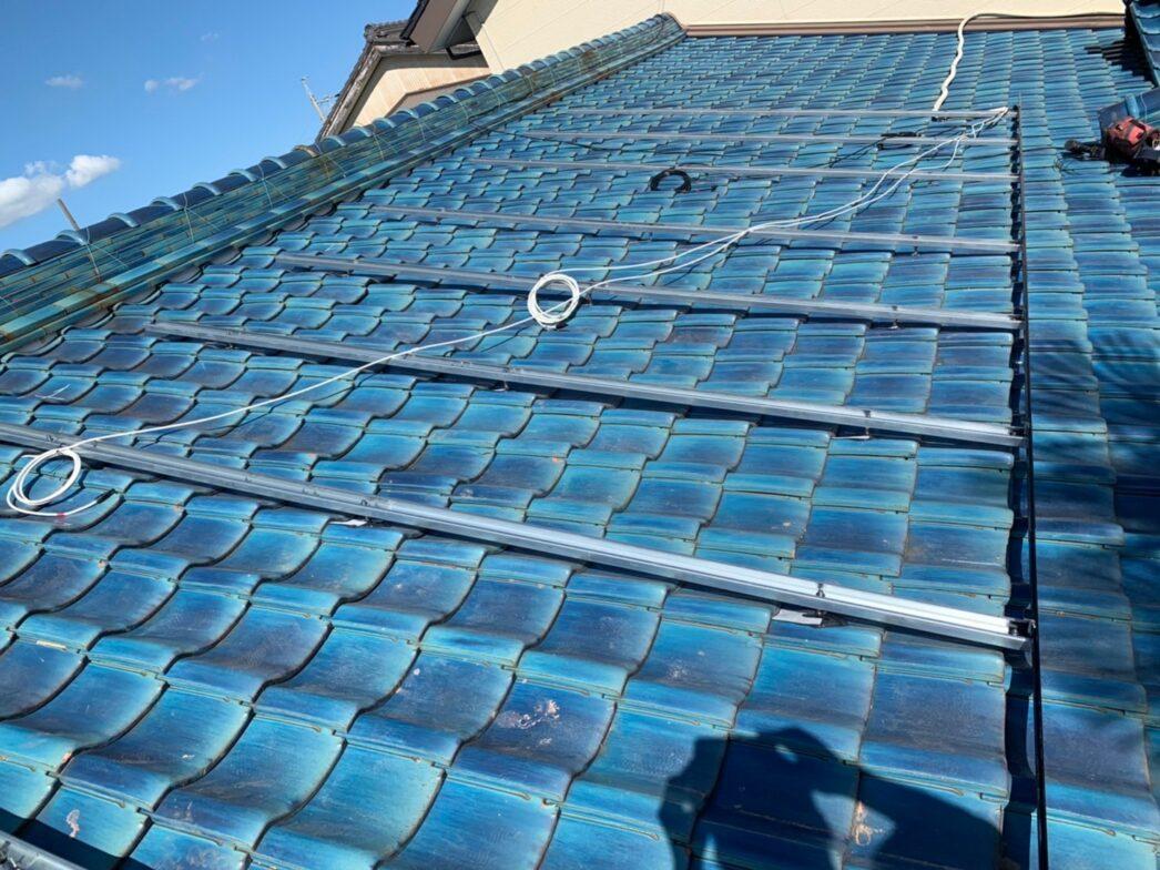 滋賀県Canadian Solar太陽光発電システムCS1H-335MS施工前の写真