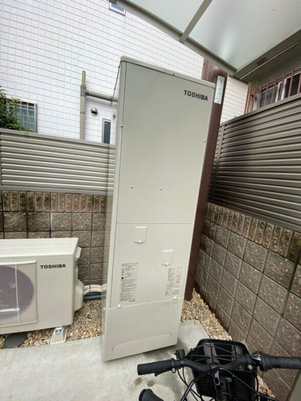 大阪府東芝エコキュートHWH-B466HA施工後の写真