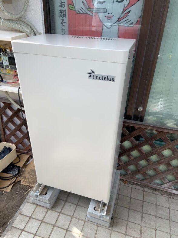 愛知県田淵電機蓄電システムEOF-LB70-TK施工後の写真