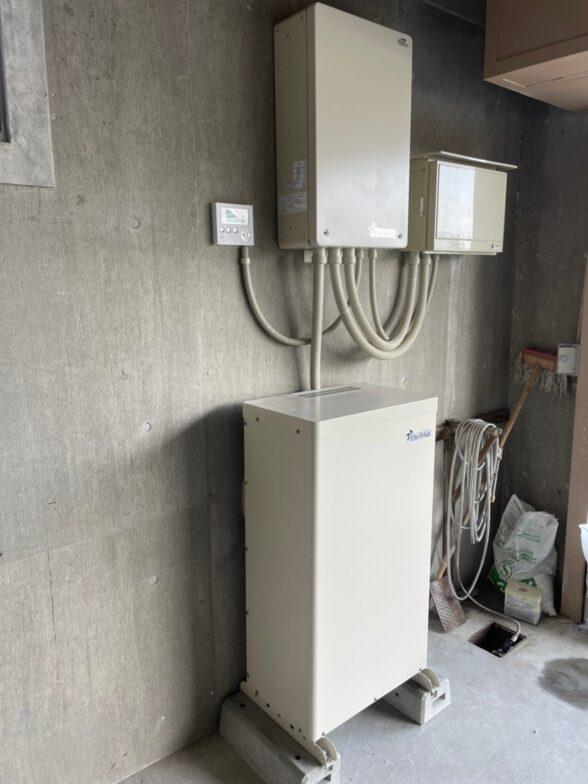 愛知県田淵電機蓄電システム(EIBS7)EOF-LB70-TK施工後の写真