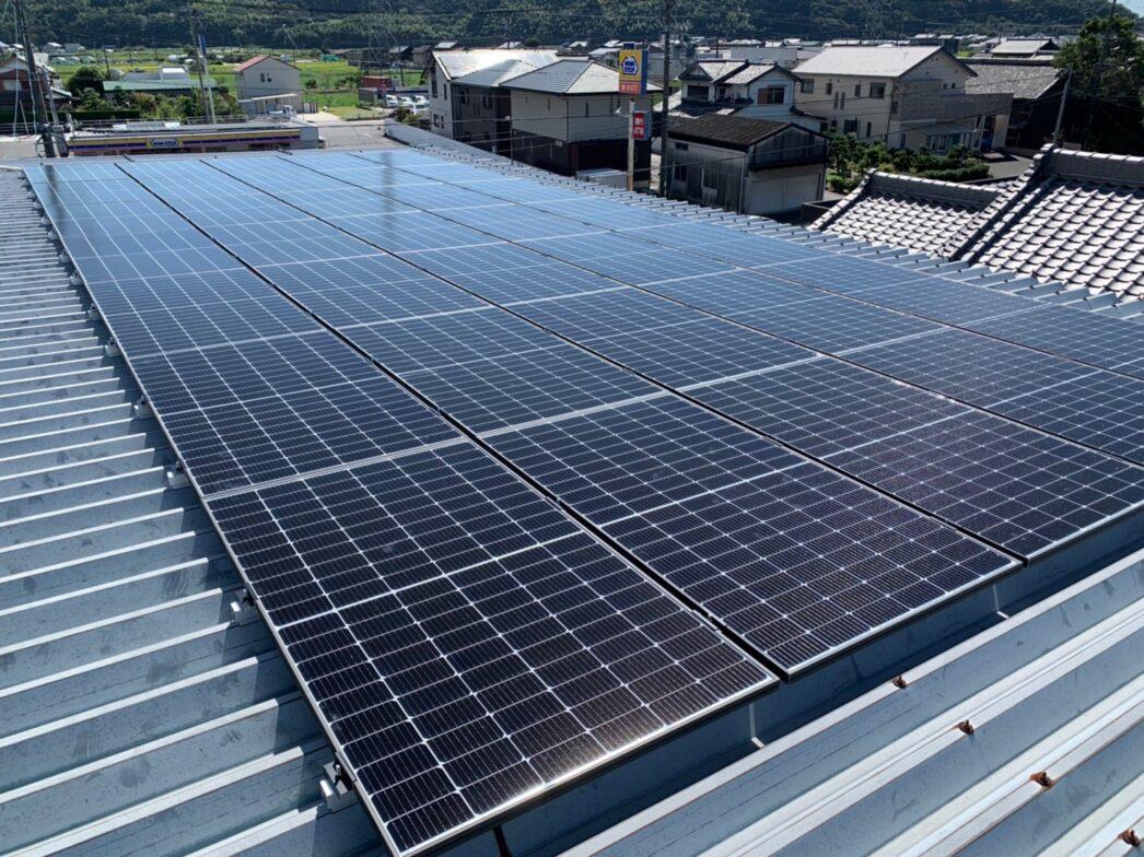 愛知県Canadian Solar太陽光発電システムCS3LA-375MS施工後の写真