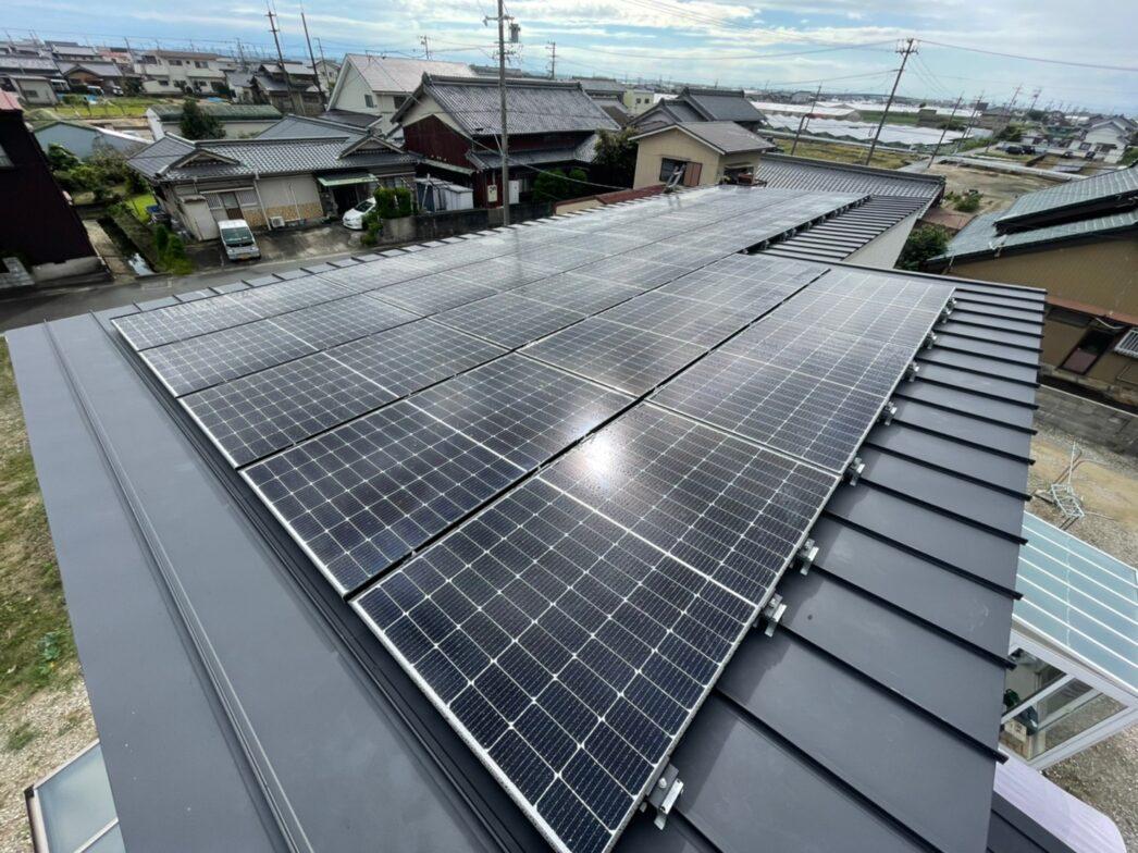 滋賀県Canadian Solar太陽光発電システムCS3L-375MS施工後の写真