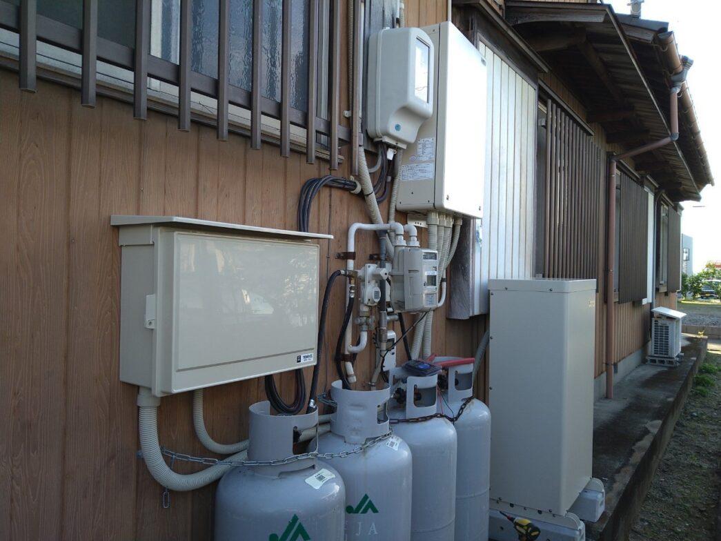 大阪府田淵電機蓄電システムEOF-LB70-TK施工後の写真