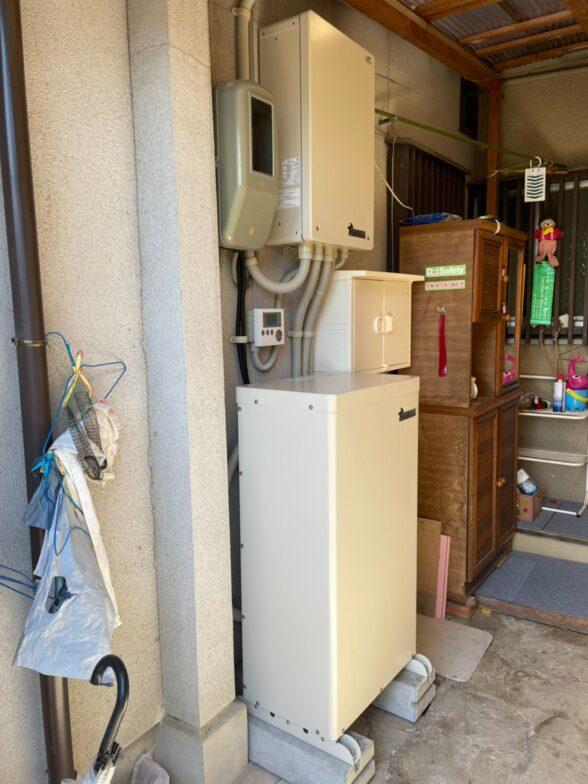大阪府田淵電機蓄電システムCS-TL70GF施工後の写真
