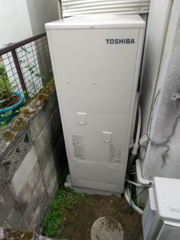 愛知県東芝エコキュートHWH-B376H施工後の写真