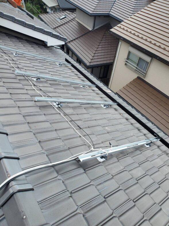愛知県Canadian Solar太陽光発電システムCS3LA-375MS施工前の写真