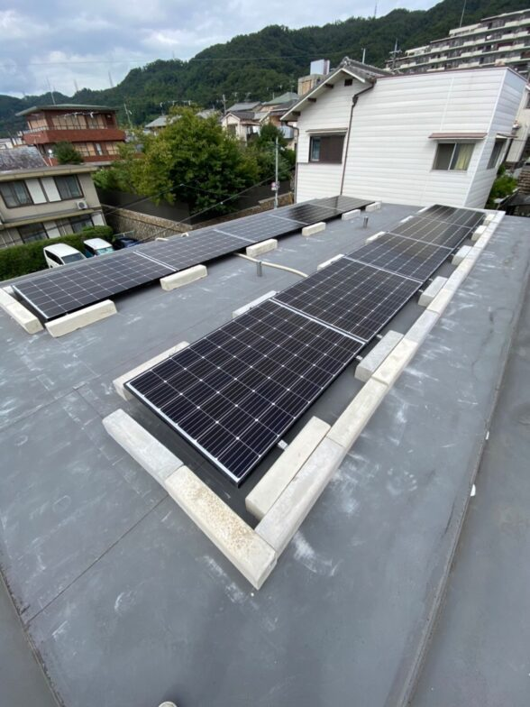 大阪府長州産業太陽光発電システムCS-284B61施工後の写真
