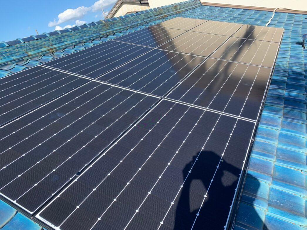 滋賀県Canadian Solar太陽光発電システムCS1H-335MS施工後の写真