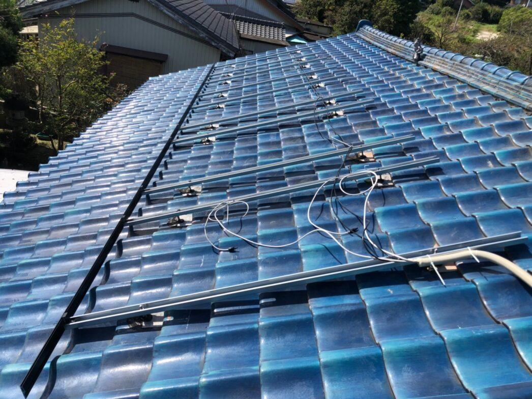 兵庫県Canadian Solar太陽光発電システムCS3L-375MS施工前の写真